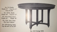 1918 catalogue image dining table.
