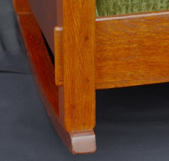 Detail large tenon on front leg.