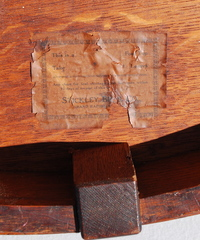 Stickley Brothers paper label located on the underside of  the table top.