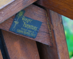 Original Stickley Brothers signature brass tag.