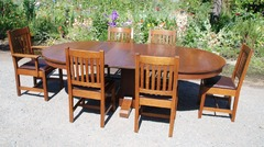 Shown with the original dining chairs from the set which have been sold.  We will be listing the sideboard & server soon.