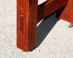 Pinned through-tenon.
