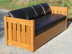 Sofa Sleeper in Cherry