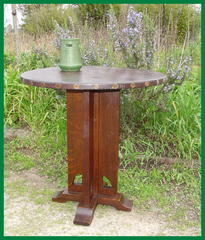 Rare Original Secessionist Influenced Limbert's Lamp Table.