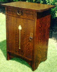 Inlaid Oak Cabinet