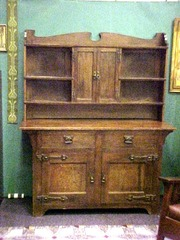 English Arts and Crafts Buffet Hutch