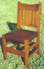 Gustav Stickley Accurate Replica  V-Back Dining Chair