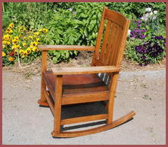 Original L. & J. G. Stickley Rocker circa 1906 to 1912