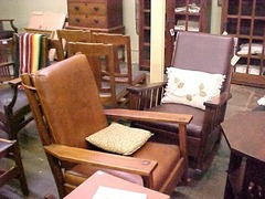 Large Gustav Stickley rocker.