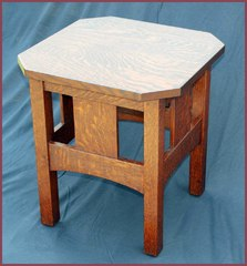 Accurate Replica L & J G Stickley Clip-Corner Oak Stand