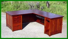 Greene and Greene Style Custom  Executive Desk Computer Work Station