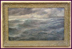 Large Impressionist Seascape Oil Painting
