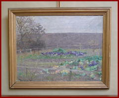 Impressionist Landscape Oil on Canvas Signed: P. Hougaard 1918