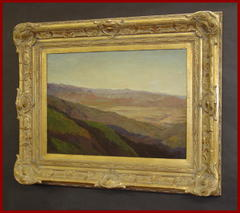 Impressionist Landscape Oil on Canvas  By Mary Beth Williams in an Exceptional Vintage Frame. Listed