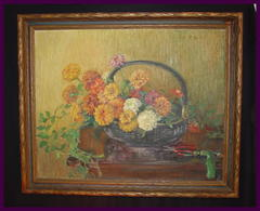 Original Oil Painting by Laguna Beach, California Listed Artist Ruth Peabody. Circa 1920