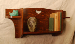 Stickley & Liberty Inspired Arts & Crafts Hanging Display Shelf