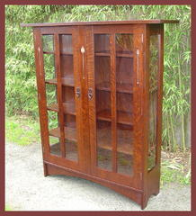 Two Door Inlaid China Cabinet