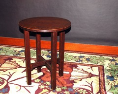 Gustav Stickley lamp table or tea table, signed.