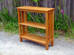 Custom cherry bookshelf