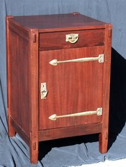 Rare Gustav Stickley Mahogany SafeCraft Cabinet including the original safe.