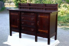 Gustav Stickley Replica 8-leg Buffet Sideboard