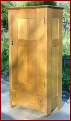 Early Gustave Stickley Fitted Wardrobe