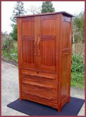 ...(ITEM RETIRED)...Greene & Greene Style Custom  Armoire Dresser or Entertainment Center