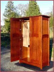 ...(ITEM RETIRED)...Greene and Greene Style Custom Armoire Wardrobe or Entertainment Center