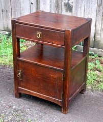 Period Limbert style oak safe, excellent as nightstand.  Circa 1912