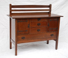 Gustav Stickley Strap Hinge Sideboard Model 814 1/2