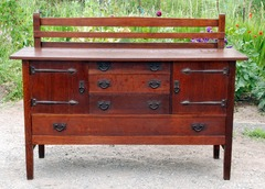 Original Gustav Stickley Strap Hinge Sideboard