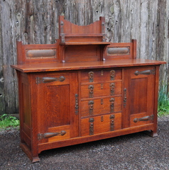Very Rare Early Stickley Brothers Sideboard in mint original condition.