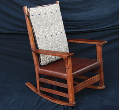 Gustav Stickley rocker, signed.