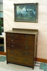 Gustav Stickley tall chest or highboy dresser