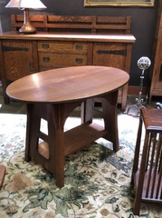 Limbert Single Oval Table, signed