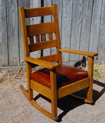 Stickley Brothers high back rocker