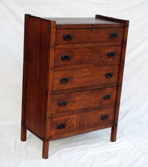 Vintage Come Packt Furniture Company Highboy Dresser Chest