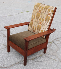 L & J G Stickley Open Arm Morris Chair signed