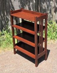 Stickley Brothers spindle magazine or book stand.  Professionally refinished.