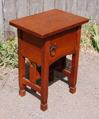 Stickley Brothers Darby Imperial oak Arts and Crafts smoke stand
