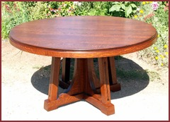 Original Charles Limbert Rare Ebon-Oak Inlaid Dining Table