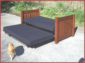 Gustav Stickley inspired day bed sofa bed or trundle bed