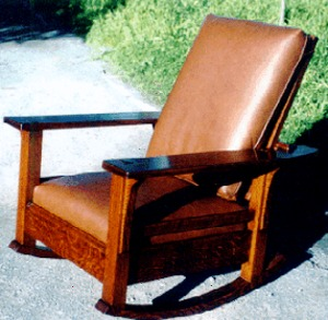 Paddle Arm Reclining Morris Rocker Inspired From A Vintage L. \u0026 J. G. Stickley Rocker. & Voorhees Craftsman Mission Oak Furniture - Paddle Arm Reclining ... islam-shia.org