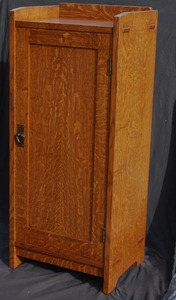 Accurate Replica Gustav Stickley Oak Music Cabinet
