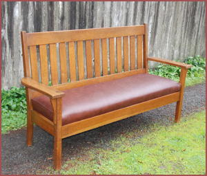 Vintage Oak Settee or Loveseat