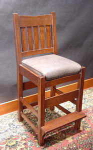 Gustav Stickley Style Counter Chair