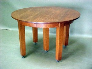 Gustav Stickley 5-leg Dining Table