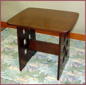 Replica Limbert Cut-Out Table Inspired by Charles Rennie Mackintosh