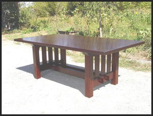 Gustav Stickley Harvey Ellis Inspired Rectangular Dining Table With No Leaves, No Bread Board Ends..
