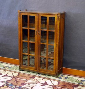 Stickley Brothers two door bookcase model #4770